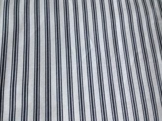 Toile de Jouy Pastorale Stripe grau, Breite 280 cm