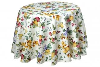 Früchtemix, Tischdecke rund ca. 180 cm, pflegeleicht