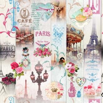 Ronantikstoff Café de Paris, Breite 160 cm, Baumwolle