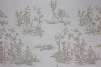 Toile de Jouy Gobelin beige, Breite 140 cm