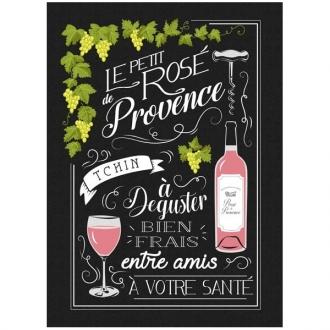 Torchon, Geschirrtuch Le Petit Rosé de Provence, ca. 48x70 cm, Baumwolle