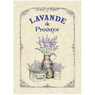 Torchon, Geschirrtuch Lavande de Provence, ca. 48x70 cm, Baumwolle