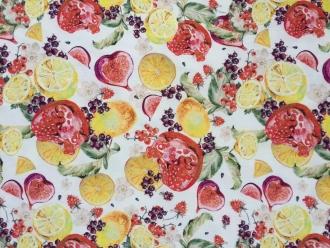 SSV 15% RabatExotische Früchte, Stoffbreite 160 cm, abwischbar, pflegeleicht