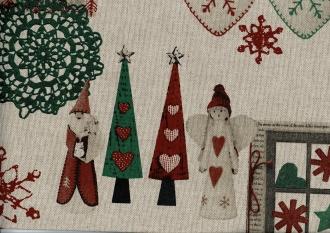 Linnen Weihnachtsstoff, Joi, Breite 140 cm