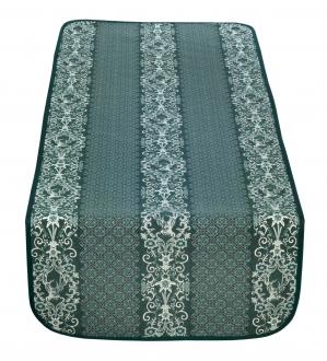 Bezaubernder Tischläufer, grün mit Hirsch und Edelweiß, Doubleface, Beidseitig, 50x140 cm