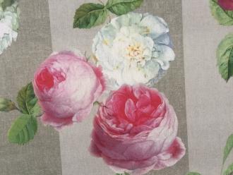 Rosen und Hortensien, Outdoor-Stoff, Stoffbreite 140 cm, abwischbar