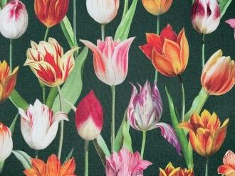 Herrliche Tulpen, Outdoorstoff, Dralon Digitaldruck, Breite 140cm
