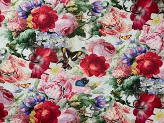 Herrliche Sommerblumen, Outdoorstoff, Dralon Digitaldruck, Breite 140cm