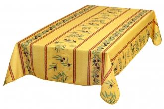 Provence-Tischdecke abwaschbar gelb Oliven 240x140 cm
