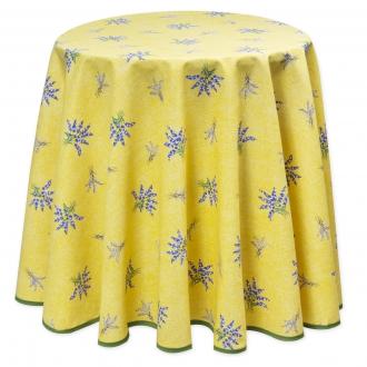 Gelb Lavendel, pflegeleicht, Tischdecke rund ca. 180 cm,