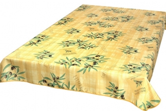 Abwischbar Provence-Tischdecke 240x150 cm Gelb Huile dOlive
