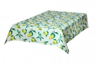 Provence-Tischdecke ca. 140x200 cm, Zitronen, pflegeleicht abwischbar