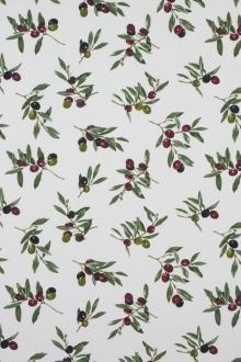 Provencestoff Panama Oliven, 160 cm Breite