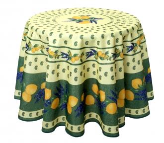 Citrus Grün, runde Decke, 180 cm, Antitache