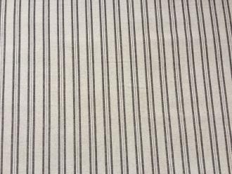 Toile de Jouy (C)Stripe  Linnen Brune 280 cm Breite
