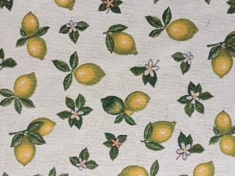 Gobelin Zitronen allover, Breite 140 cm