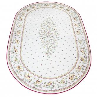 Ovale Decke Moustier, 250x160 cm, besch. Baumwolle