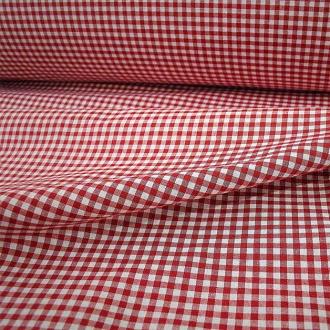 Baumwolle Karo rot-weiß, Breite 280 cm