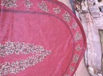 Oval Maussane Cotto 250x160 cm, besch. Baumwolle