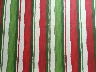 Streifenstoff Multicolor, beschichtete Baumwolle,  155 cm Breite