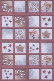 Weihnachtsstoff cotto mit Sternen, Breite 140cm