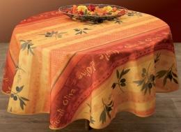 Tischdecke Olivo, abwaschbar, schmutz- und wasserabweisend, rund 160 cm