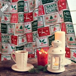 Santa Claus, Weihnachtsstoff, Breite 140 cm, Pflegeleicht
