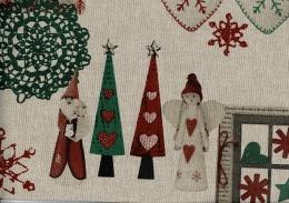 Sehr schöner Weihnachtsstoff, Joy, Linnen, Breite 140 cm