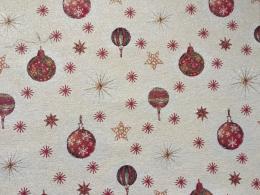Gobelin Weihnachten mit Kugeln, Breite 140 cm