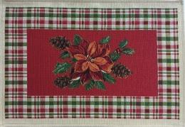 Platzset Weihnachten mit Christstern, rot, Gobelin