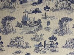 Toile de Jouy Gobelin blau, Breite 140 cm