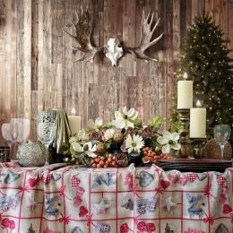 Herzen Beige, Weihnachtsstoff, Breite 140 cm