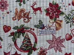 Nostalgischer Gobelin Weihnachten Northpole, Breite 140 cm