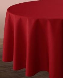 Uni-Tischdecke, schmutz- und wasserabweisend, Leineneffekt, rund 180 cm