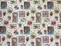 Traumhaft schöne Weihnachtsdecke, Elegant, Gobelin, ca. 140x140 cm