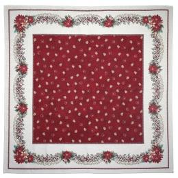 Bezaubernde romantische Mitteldecke, ca. 140x140 cm, Weihnachtsdecke Gobelin