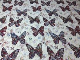 Gobelin mit Schmetterlingen, Breite 140 cm