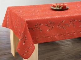 Tischdecke abwischbar 200x150 cm cotto-rot Oliven,  Olivette,