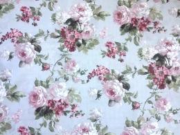 Sommer-Rosen, Pflegeleichtes Mischgewebe, Stoffbreite 280 cm