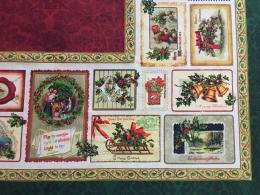 Weihnachtstischdecke Nadala, Baumwolle, ca. 160x160 cm