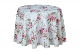 Rosen-Tischdecke rund ca. 180 cm, Prinzess Rose 2, pflegeleicht