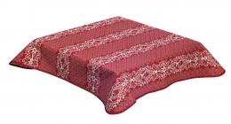 Bezaubernde Weihnachts-Tischdecke rot mit Hirsch und Edelweiß, Doubleface, Beidseitig, 140x140 cm