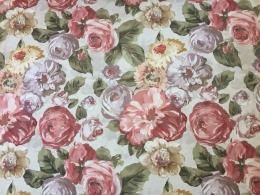 Panama Rosen Amelie, Digitalprint, Stoffbreite 160 cm
