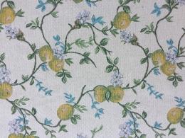 Jaquard mit Zitronen und Blüten, Breite 140 cm - Limones