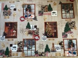 Happy Holidays, Herrlicher Weihnachtsstoff, Breite 140 cm, Baumwolle