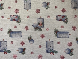 Herrlicher Gobelin Weihnachten Candlelight, festlich mit Lurex, Breite 140 cm