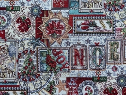 Herrlicher Gobelin Weihnachten NOEL, Elegant und Romantisch, Breite 140 cm