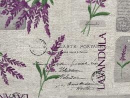 Provencestoff Lavandula, pflegeleicht, Stoffbreite 140 cm