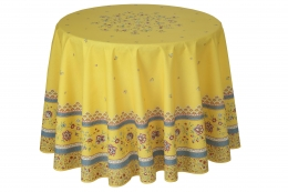 Provencetischdecke Beaucaire Gelb, beschichtete Baumwolle, ca. 180 cm