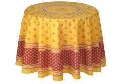 Provencetischdecke Bormiou gelb-rot, beschichtete Baumwolle, ca. 180cm